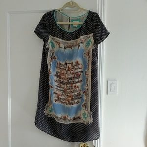 Anthropologie Dresses - Anthropologie silk t-shirt travel dress